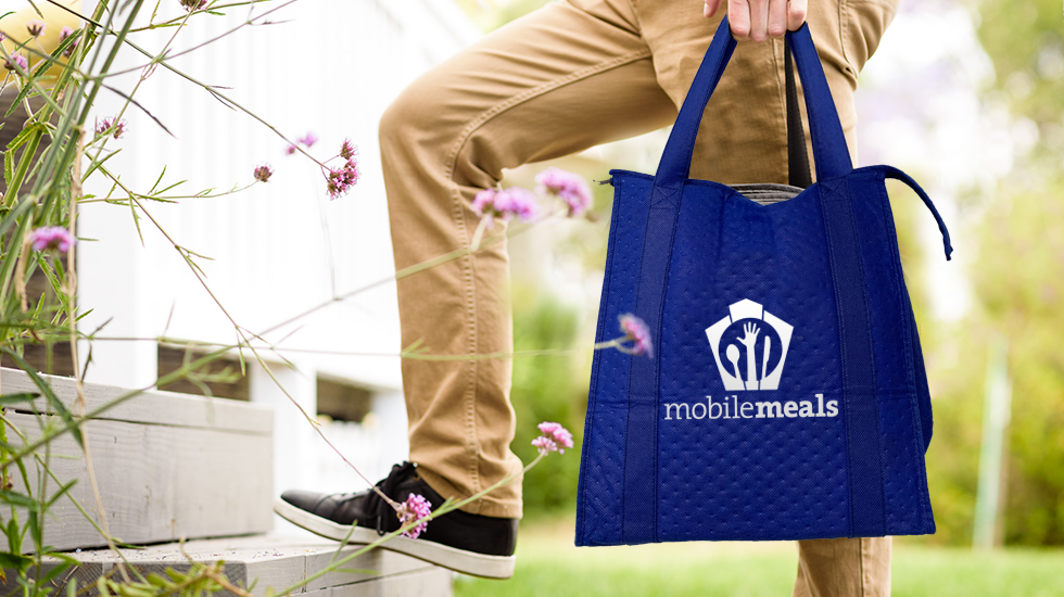Mobile Meals Volunteer with Insulated Bag